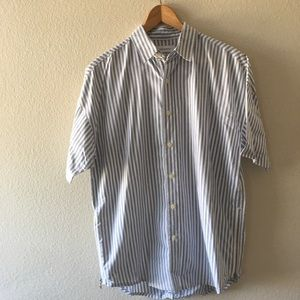 Urban Outfitters striped buttondown w/ zippers